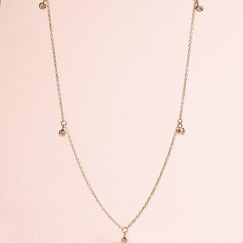 9k White Diamond Necklace