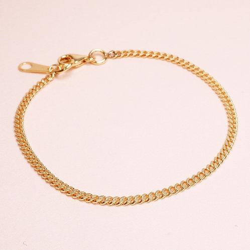 9k Curb Chain Bracelet