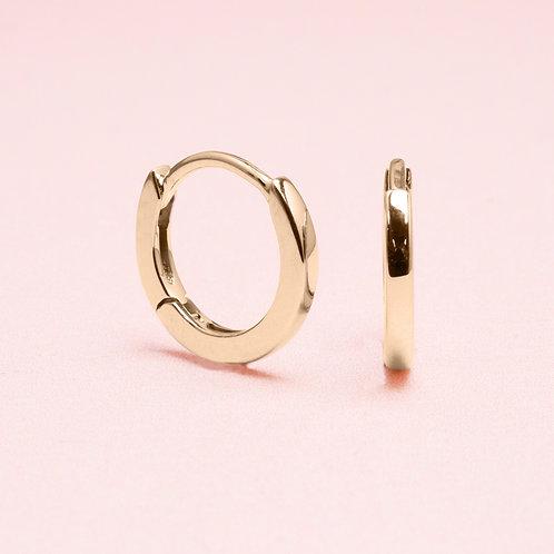 9k Yellow Gold Basic Huggie Earring