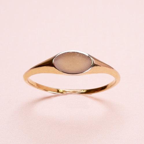 9k Rose gold Signet Ring