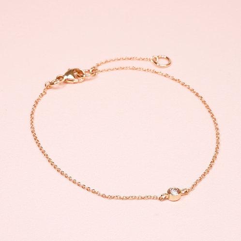 9k White Diamond Bracelet