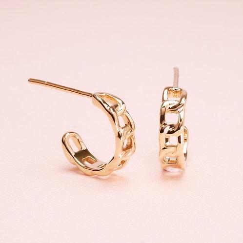 9k Basic Chain Stud Earring