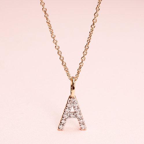 9k  A Alphabet Diamond Pendant