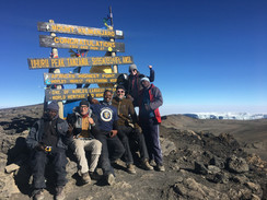 At the top of Africa, Uhuru Peak: 19,341ft