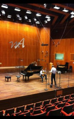 At Lugano, M. Argerich project