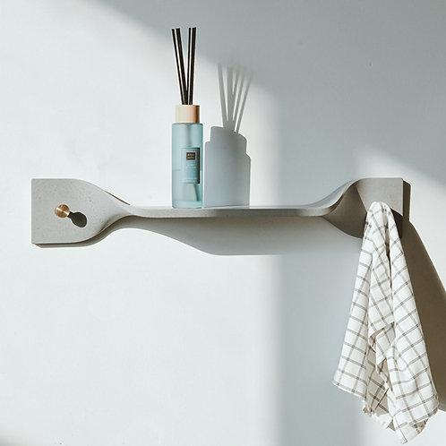 Cement Ribbon Wall Shelf