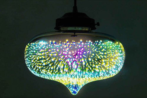 Tear Fluorescent Rainbow Light Ceiling Pendant Light