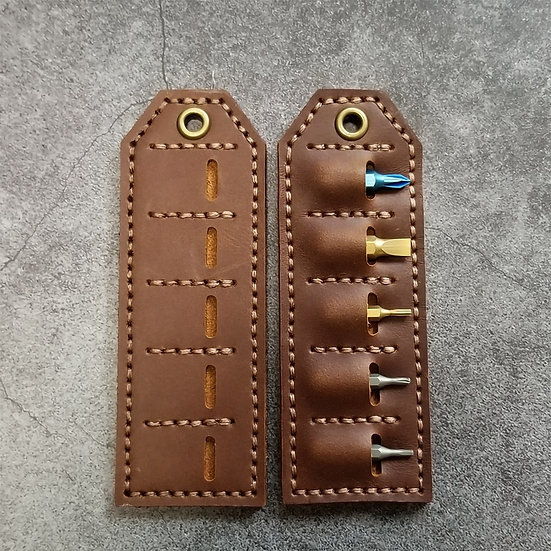 Hex leather tag