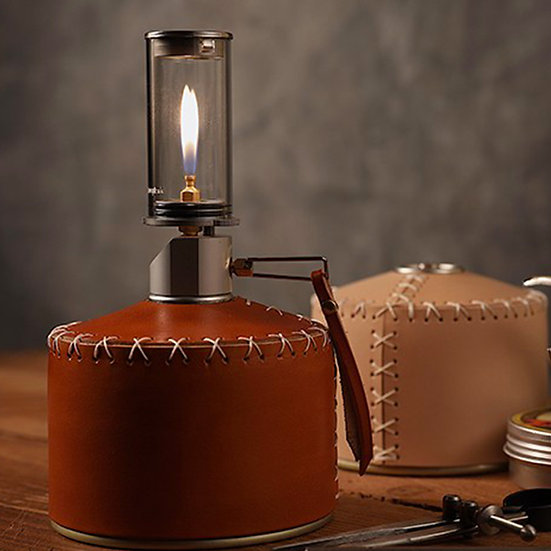 Leather cover for propane gas canister