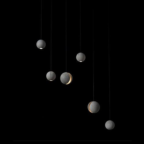 Cement Moon Ceiling Pendant Light
