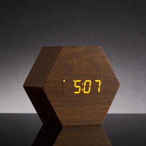 Hexagon LED Alarm Clock