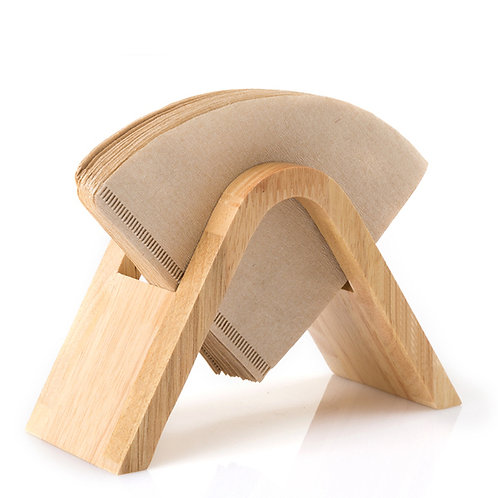 Wood coffee filter holder