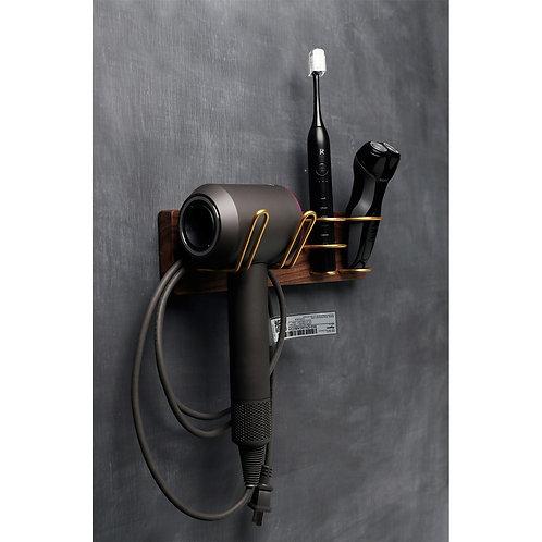 Wooden Hairdryer Rack