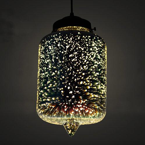 Lantern Fluorescent Rainbow Light Ceiling Pendant Light