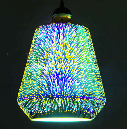 Bell Fluorescent Rainbow Light Ceiling Pendant Light