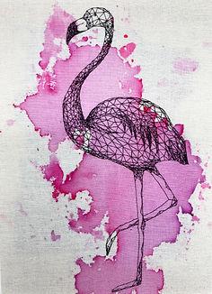 pink flamingo A5 greeting card close.jpg