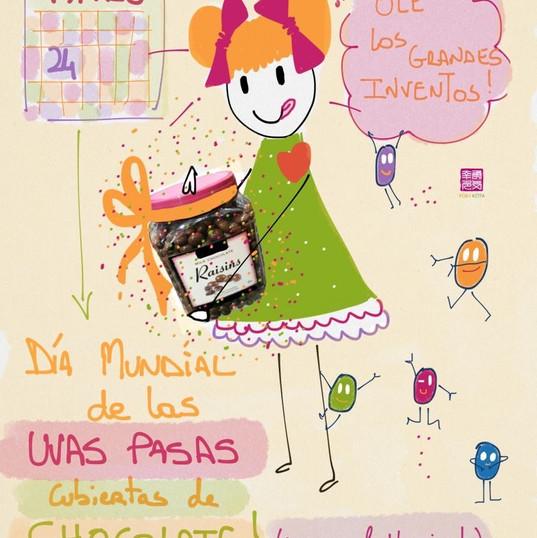 24 de marzo #díasdelmundomundial de las pasas cubiertas de chocolate