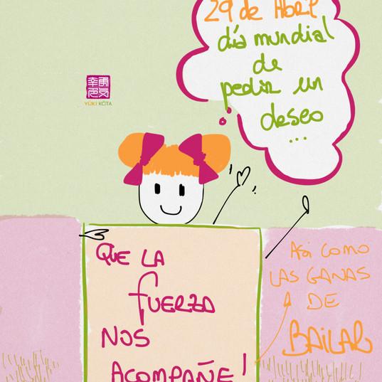 29 de abril #díasdelmundomundial de pedir un deseo