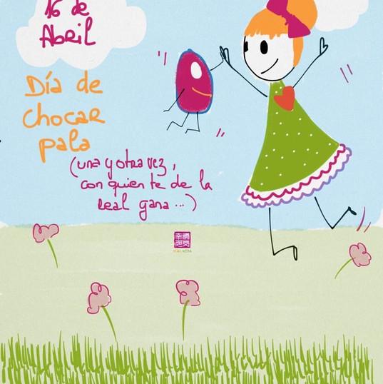 16 de abril #díasdelmundomundial de chocar pala