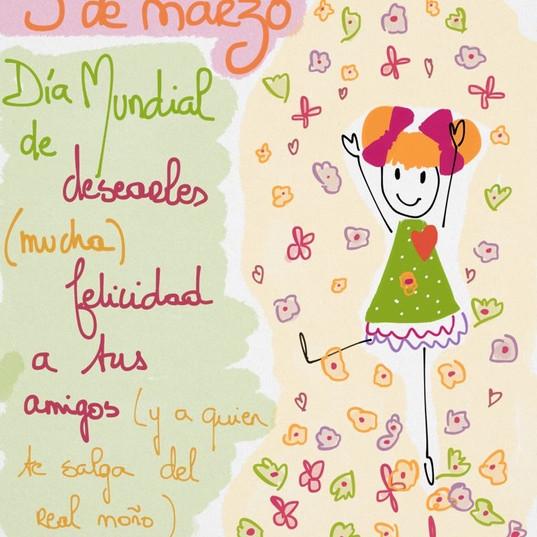 3 de marzo #díasdelmundomundial de repartir felicidad