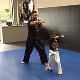 Vinjos Martial Arts white belt kids