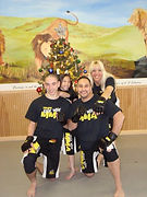 Vinjos Martial Arts owners Vincent and Joanne Stasi and their family