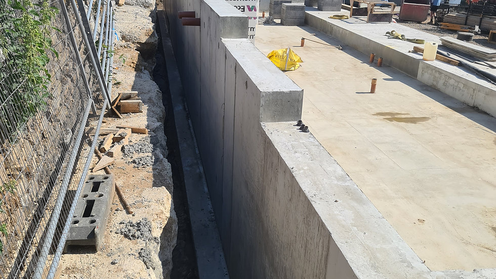 Dacre banks - basements and retaining wall