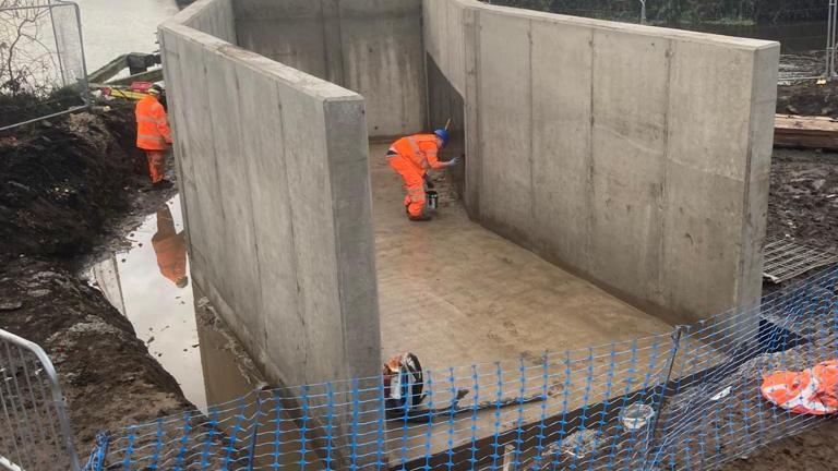 Bridge abutments - Newton Ings, Doncaster