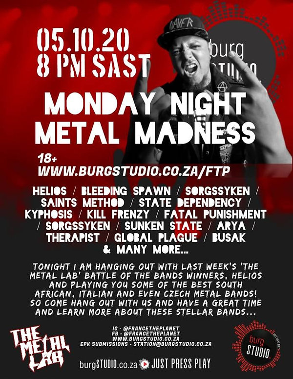 Monday Night Metal Madness with Helios -