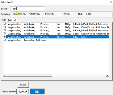 Smart Dependency List Example Artichoke.