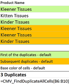 How to find Duplicates in excel