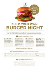 Build Your Own Burger Night