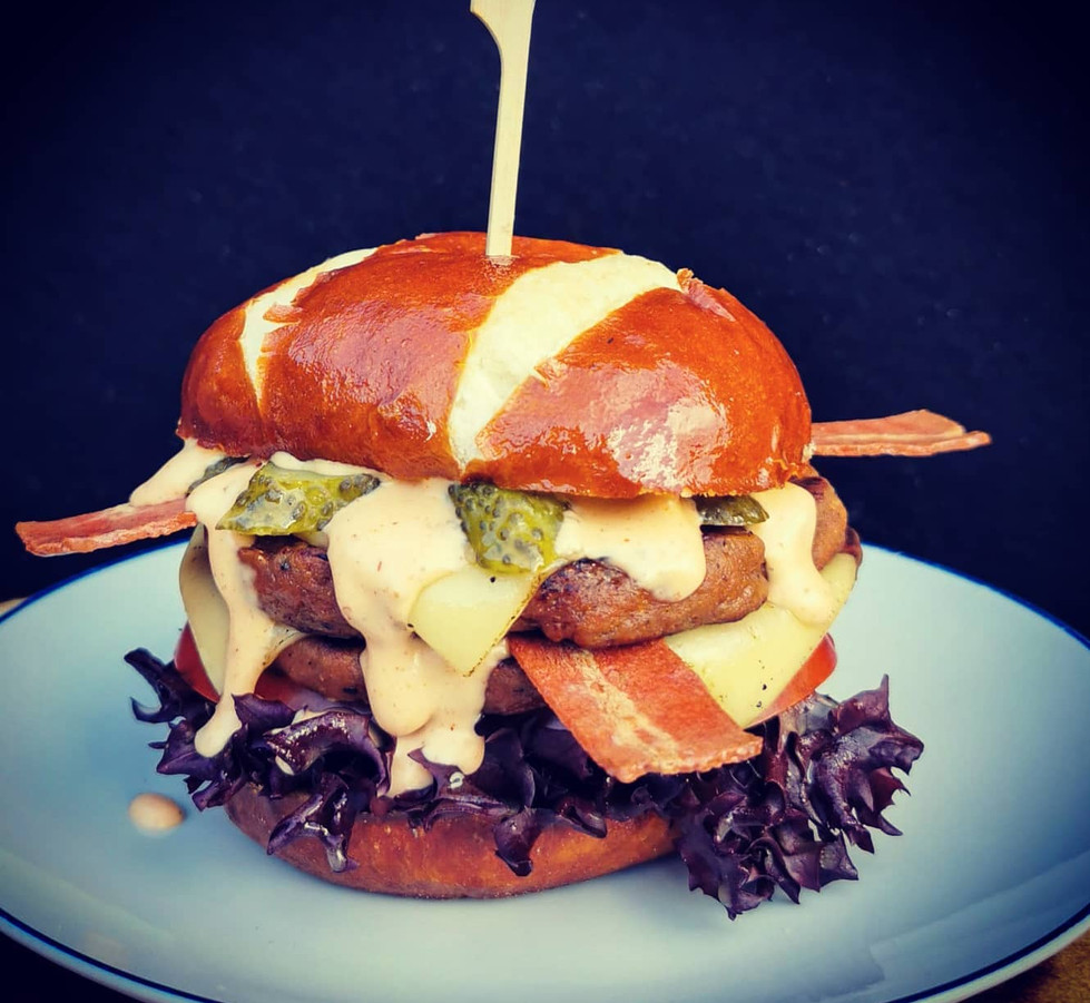 The Hank's Double Down Burger