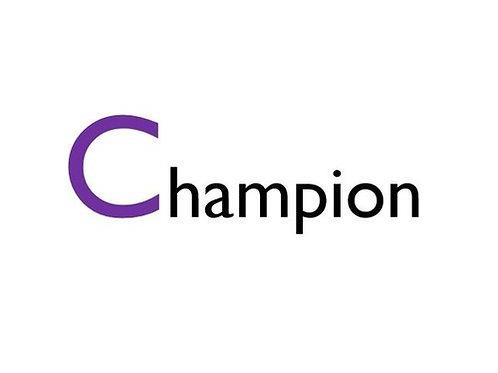 Champion Level Sponsorship