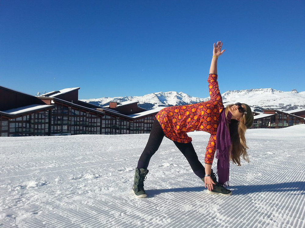 skiing and yoga retreat instructor bec black