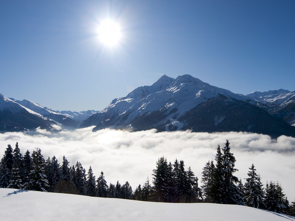 The clouds rolling in - you can truly experience the elements at Chalet Rosière