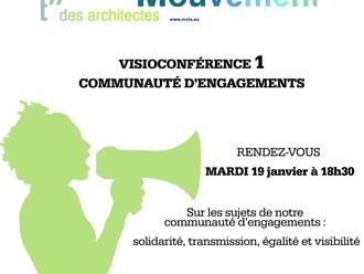 VISIOCONFÉRENCE 1 : COMMUNAUTÉ D'ENGAGEMENTS