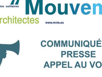 COMMUNIQUÉ DE PRESSE - APPEL AU VOTE