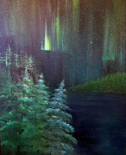 northern lights and trees (2)