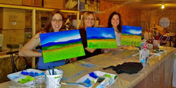 Another super fun class at the wine barn in Manitowish Waters. I just love the creative energy and f