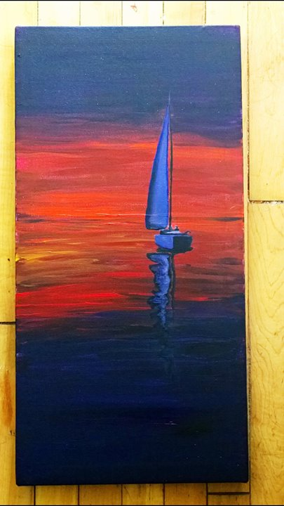 Sail away_Acrylic on canvas_1' x 2'