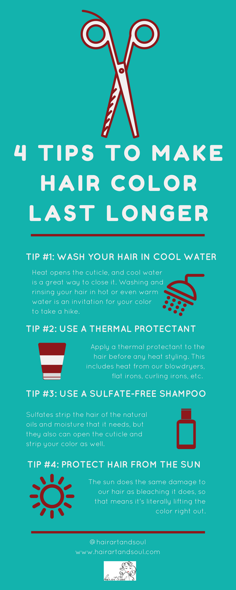 hair color, thermal protectant, sulfate-free shampoo