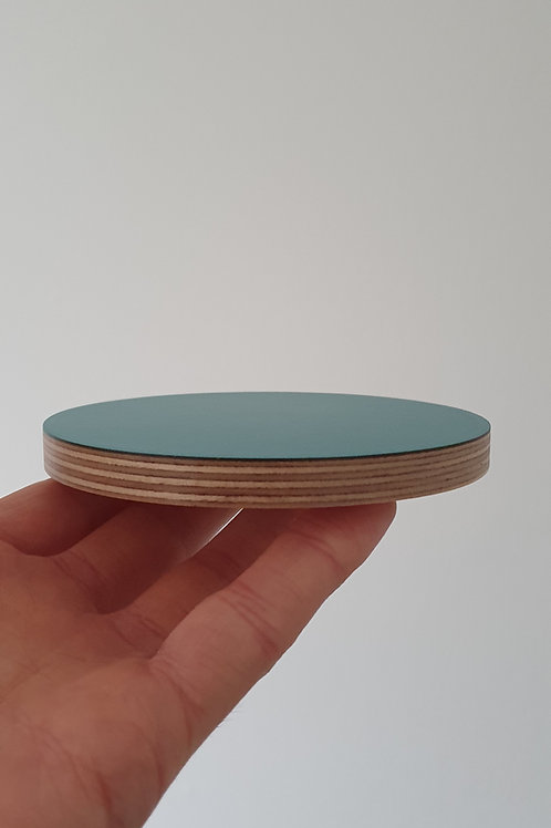 Laminated Teal Coasters