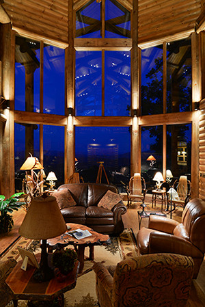 Blue Ridge, GA Residence - Living @ Night