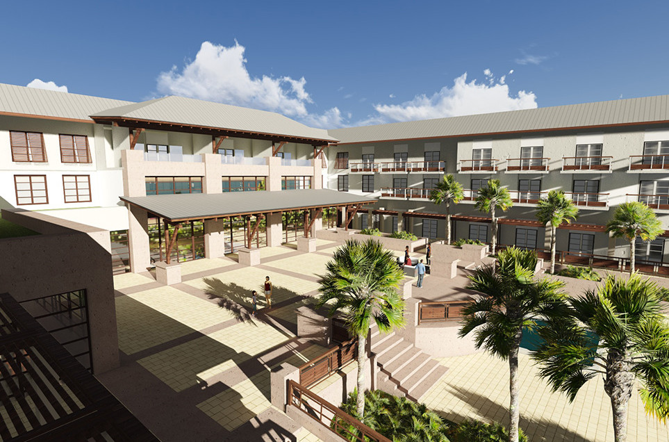 St. Augustine, FL Embassy Suites Exterior Courtyard
