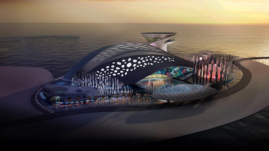 Lusail Island, Qatar Exterior @ Dusk