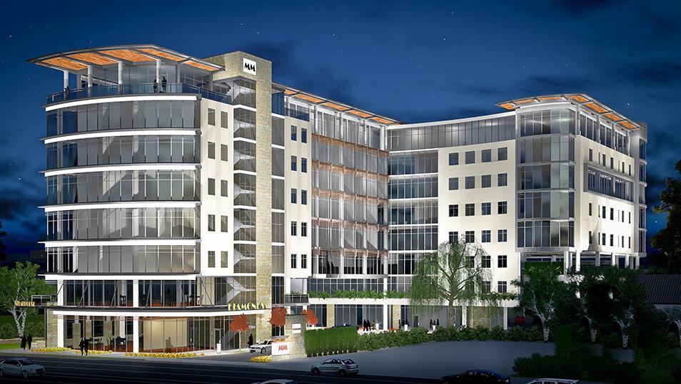 Brookhaven, GA Mixed Use Development Exterior @ Dusk