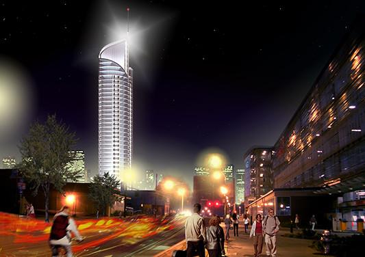 Atlanta, GA Aquarius Tower Night View