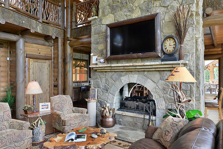 Blue Ridge, GA Residence - Main Fireplace