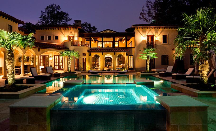 Atlanta, GA Residence Exterior Rear Night
